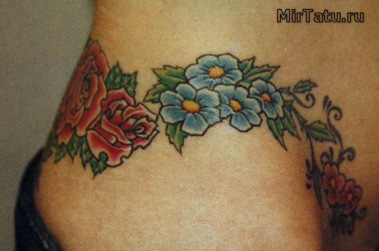 Фото татуировок — Цветы 12