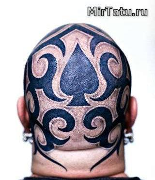 Фото татуировок — Татуировка головы 8