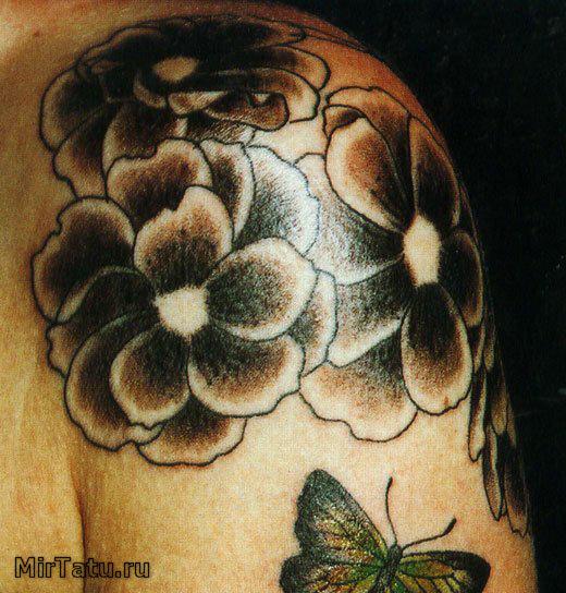 Фото татуировок - Цветы 13