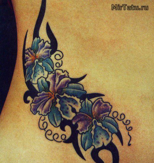 Фото татуировок — Цветы 14