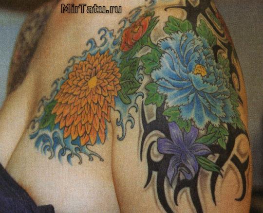 Фото татуировок - Цветы 2