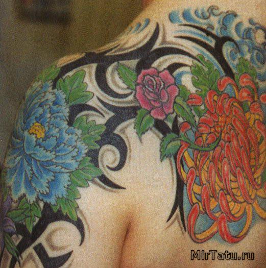 Фото татуировок — Цветы 5
