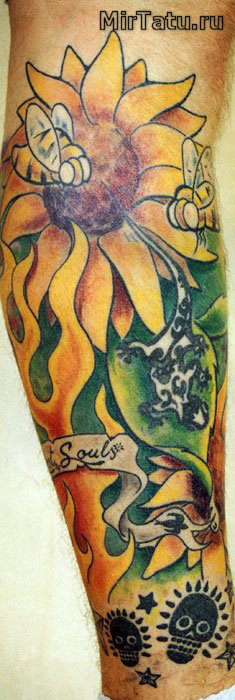 Фото татуировок - Цветы 8