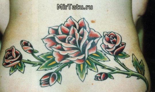 Фото татуировок — Цветы 9