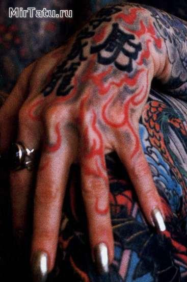 Фото татуировок — Татуировки на пальцах и кистях рук 6