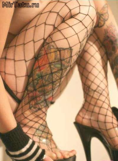 Женские татуировки — Рисунок на ноге