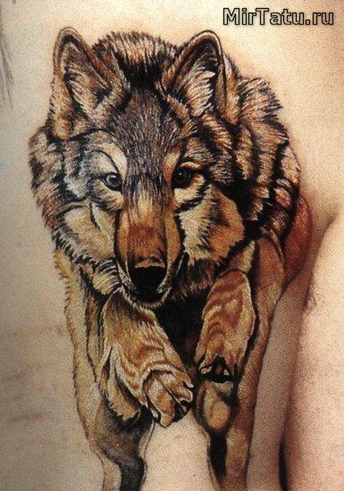 Фото татуировок — Волк 2